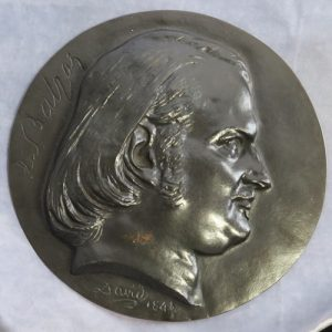 Head of Balzac in profile right David 1843