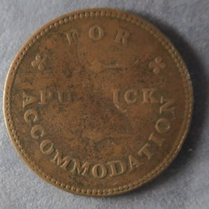 Isle of Man Half Penny Token 1830 For Public Accommodation